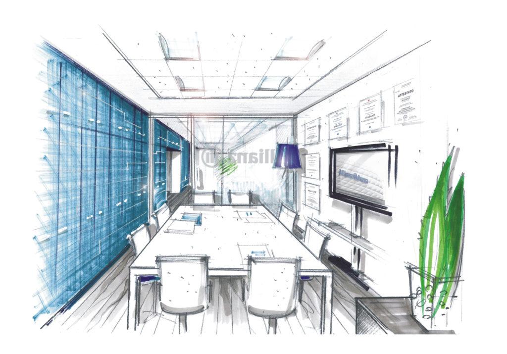 Allianz 13 - schizzo sala riunioni